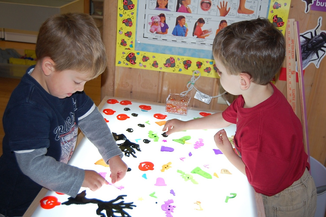 our new light table pandas playschool